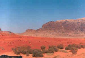 cesta kolem Wadi Rum