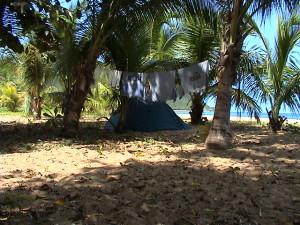 stanování v Grande Anse
