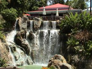 restaurace v Jardin Botanique Deshaies