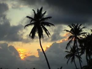 západ slunce v Sainte-Anne