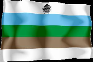 třetí vlajka Království Redonda - používaná králem Robertem the Bald (1997 - 2009)