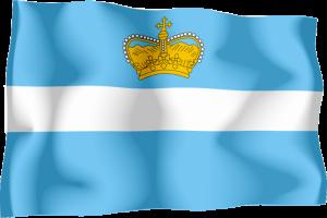 třetí vlajka Království Redonda - používaná králem Leo I. (1989 - dosud)
