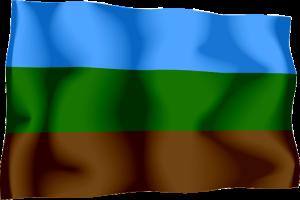 čtvrtá vlajka Království Redonda - používaná králem Michaelem de Grey (od 2009)