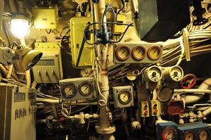 ovládací prvky ponorky