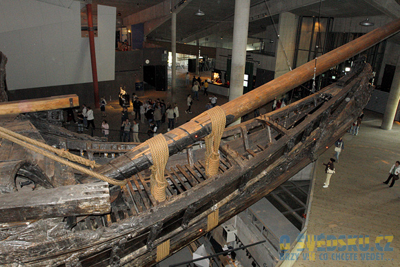 Vasa Muzeum. Příď lodi Vasa.