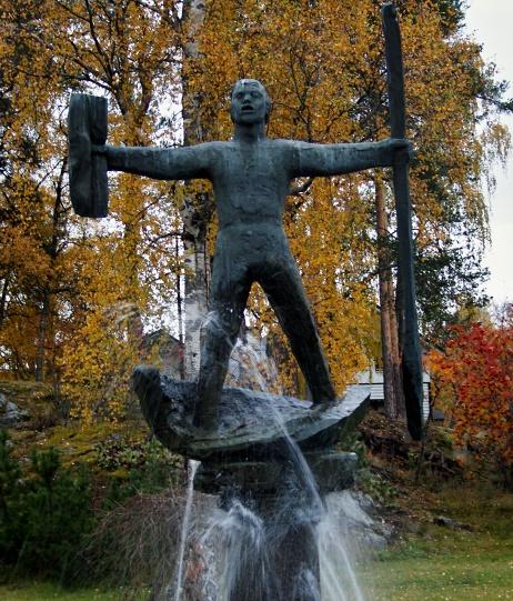 Socha Magnuse Husse ve městě Hammarstrand (zdroj Wikipedia)